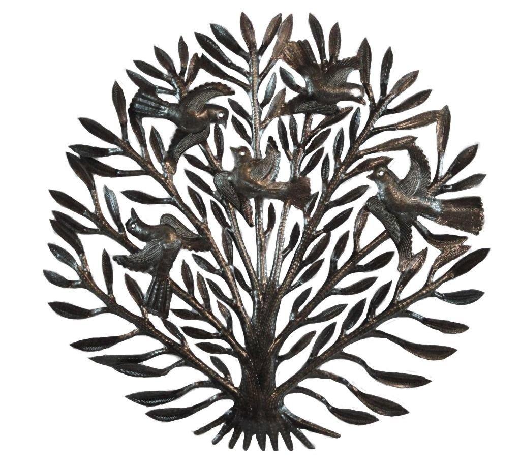 Artesanato Haitiano ~ Aves deárvore do haitiano parede metal arte artesanal