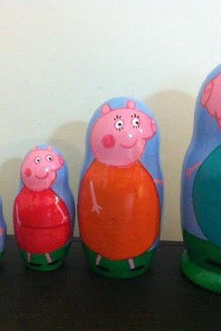Peppa pig família matrioshkas de madeira babushka bonecas russas, cartoon  filme infantil filme história serie, 5 peças - €17.00 EUR - Leilões  Portugueses